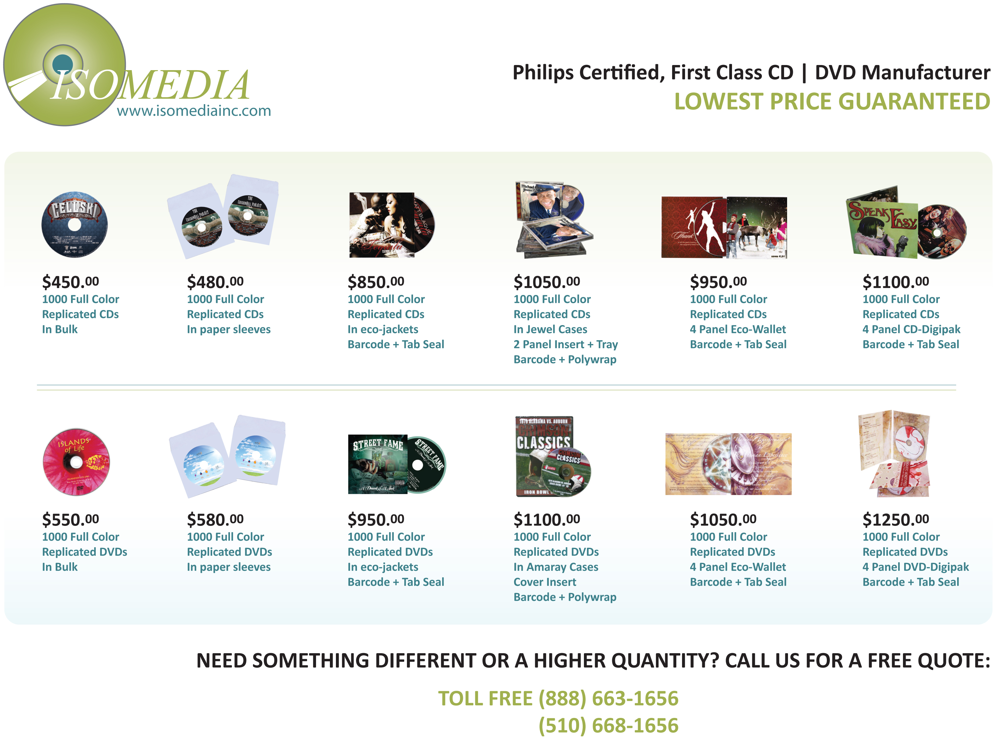 Isomedia, CD Replication, CD Duplication, DVD Replication, DVD Duplication.